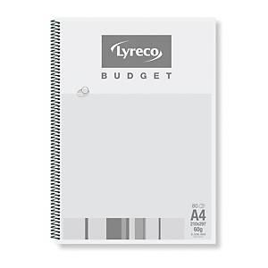 Spiralblock Lyreco Budget A4 kariert 60g/m2 ungelocht 80 Blatt