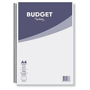 Lyreco Budget Notebook A4 60gsm Ruled Spiral - Pack Of 10