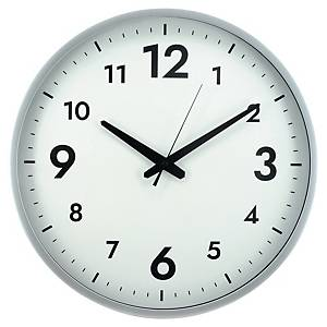 Reloj silencioso Alba - ø 380 mm de diámetro - gris