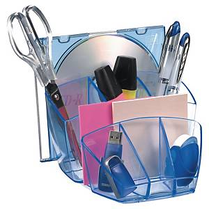 Organisateur de bureau Cep Ice - 8 compartiments - Ice blue