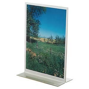 Sichtständer T-Form, A4 hoch, transparent