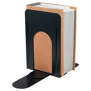 Boekensteun in metaal, zwart, per set van boekensteunen