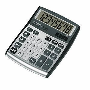 Calcolatrice da tavolo Citizen CDC-80, visualizzazione 8 cifre, argento