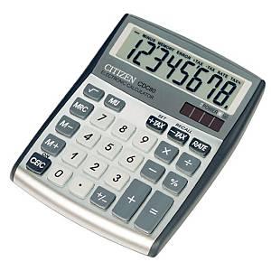 Citizen CDC80 rekenmachine voor kantoor, zilvergrijs, 8 cijfers