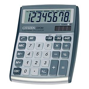 CITIZEN CDC-80  CALCULATOR 8 DIGITS SILVER