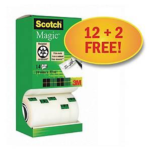 Scotch Magic 810 unsichtbarer Klebefim, Packung mit 14 Stück