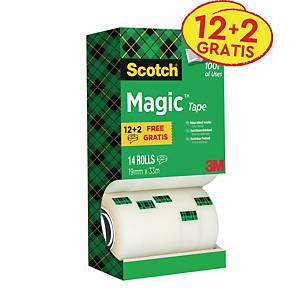 Scotch Magic 810 invisible tape 19mmx33 m - value pack 12 + 2 free