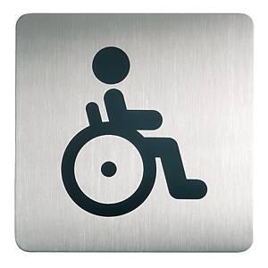 Targa con simbolo WC disabili Durable  150 x 150 mm (4959-23)