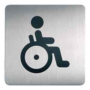Tabliczka do oznaczania toalet, niepełnosprawni