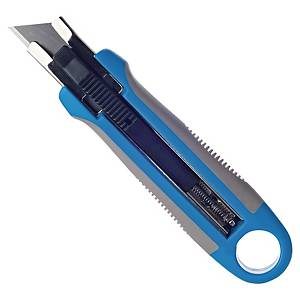 Cúter de seguridad Lyreco - 18mm - azul