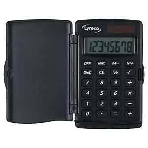 Taschenrechner Lyreco Pocket, 8-stellige Anzeige, schwarz
