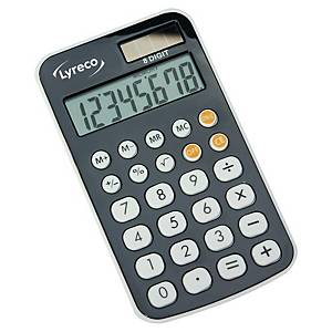 Lyreco Wallet pocket calculator with cover gray- 8 numbers