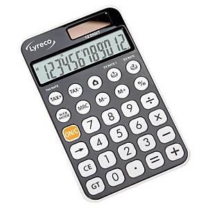 Lyreco Office Premier rekenmachine voor kantoor, compact, grijs, 12 cijfers