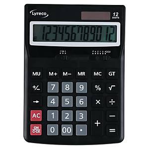 Bordsräknare Lyreco Office Premium, svart, 12 siffror