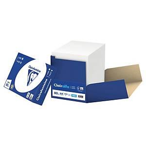 Papier blanc A4 Clairefontaine Clairalfa - 80 g - carton 2500 feuilles