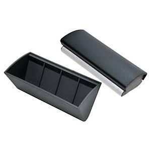 Penneholder til whiteboardtavle Legamaster, med magnet og visker, mørkegrå