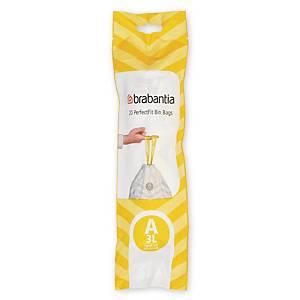 Affaldsposer Brabantia Smartfix model A, 3 L, rulle a 20 poser