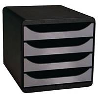 Lådsystem Exacompta Big Box, 4 lådor, svart/grått