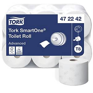 Toilettenpapier Tork SmartOne, 2-lagig, Packung à  Rollen