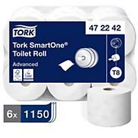 Tork Smartone T8 White 2 Ply Toilet Roll 207M - Pack of 6