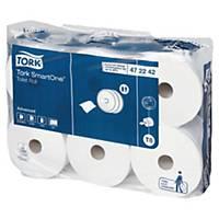 Pack de 6 rolos de papel higiénico Tork SmartOne T8 - Folha dupla - 207 m