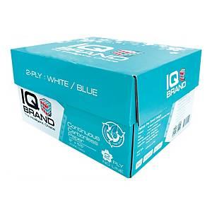 IQ กระดาษต่อเนื่องเคมี 2 ชั้น 9X5.5 นิ้ว 1 กล่อง 2000 ชุด