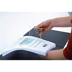 Archivierungsclip Fellowes 00895 Bankers Box®, Füllvermögen: 60mm, weiß, 100 Stk
