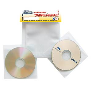Pack de 100 fundas 3L para CD/DVD - Polipropileno