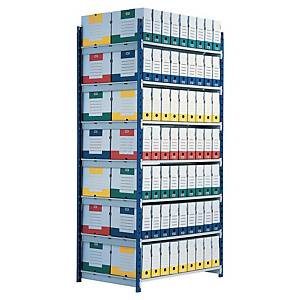 Paperflow Rangeco rek basiselement 5 niveaus, B 100 x H 200 x D 68 cm, metaal