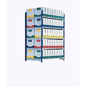 Paperflow Rangeco rek aanbouwelement 5 niveaus, B 100 x H 200 x D 68 cm, metaal
