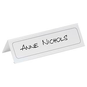 Durable 8048 table place name holder PVC 210x61mm - pack of 10