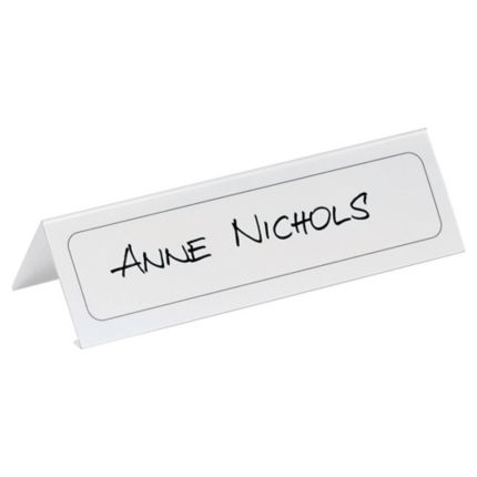 Durable 8048 Table Place Name Holder Pvc 210x61mm Pack Of 10