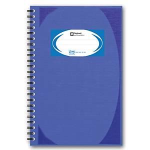ตราช้าง สมุดบันทึกมุมมันสันห่วง WHC402 70 แกรม 100 แผ่น สีน้ำเงิน