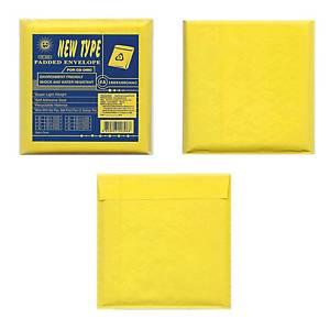 PS SUN Bubblepack CD Envelope KA Karft Size 160 X 160mm Brown