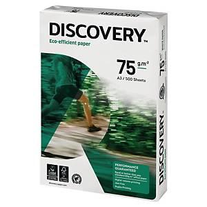 Papier A3 blanc écologique Discovery, 75 g, la boîte de 5 x 500 feuilles