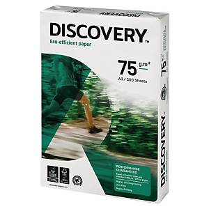 Discovery ecological white paper A3 75g - 1 box = 5 reams of 500 sheets