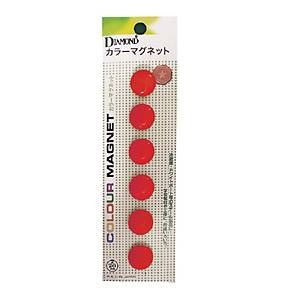 DM-20 MAGNETIC BEANS ROUND 20MM RED - PACK OF 6