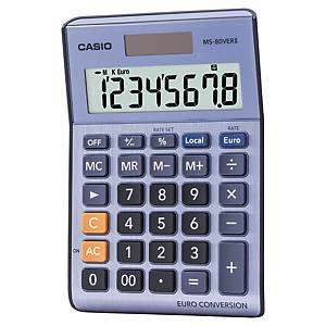 Calculatrice de bureau Casio MS-80VER II - 8 chiffres - métal/bleu