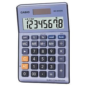 Calculadora de secretária Casio MS-80VER II - 8 dígitos - azul/metal