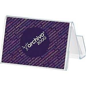 Expositor para cartões de visita Archivo 2000 - 2 compartimentos - transparente