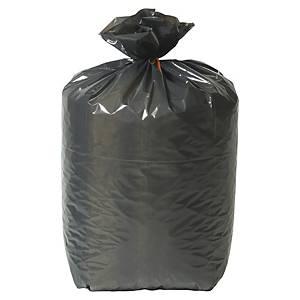 Sac poubelle pour déchets lourds - 100 L - 37 microns - noir - 200 sacs