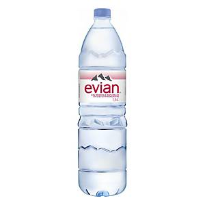 Evian mineral water bottle of 1,5l - pack of 6