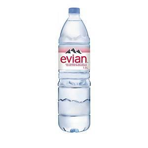 Evian eau minérale non gazeuse, emb. de 6x1.5 l