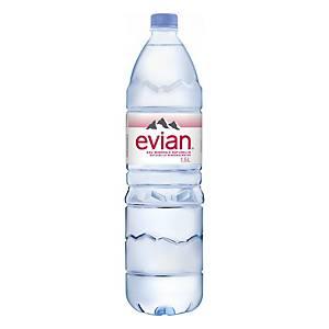 Eau minérale Evian, le paquet de 6 bouteilles de 1,5 l