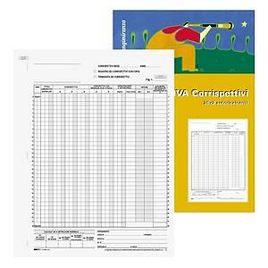 Registro corrispettivi Edipro 13 prospetti carta autoricalcante