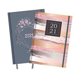 Kalendarz TOP-2000 Madame A5, tygodniowy, w piórka