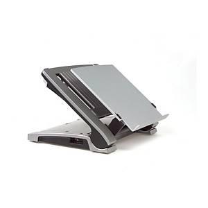 Bakker Elkhuizen Ergo Top 320 laptop support in acrylic transparent mat
