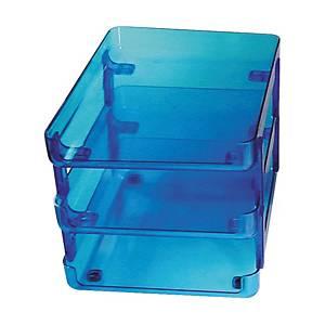 ORCA ถาดใส่เอกสารพลาสติก S3-N 3ชั้น สีฟ้าใส