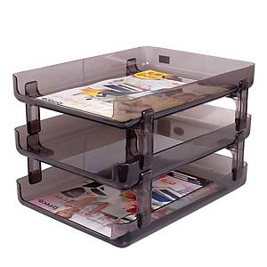 ORCA S3-N Letter Tray 3 Levels Black