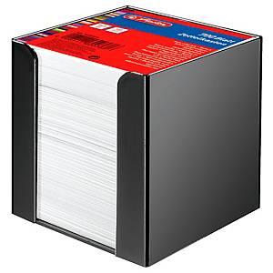Notizzettel-Box Herlitz 01600360, mit 700 Blatt weiß, Maße: 9x9cm, schwarz